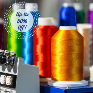 Machine embroidery threads on sale